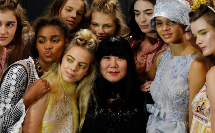 Fashion designer Anna Sui backstage before her spring-summer 2020 show in New York this month. Her sweeping influence on the fashion industry is clear in an exhibition at New York's Museum of Art and Design. Photo: Washington Post/Jonas Gustavsson/MCV Photo