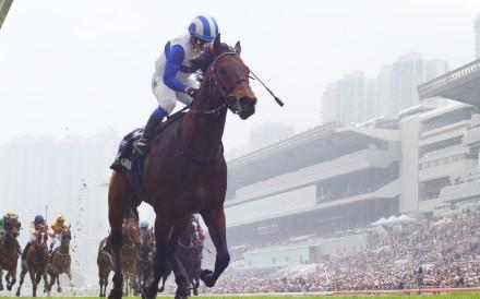 Lord Kanaloa wins the 2013 Hong Kong Sprint. Photos: Kenneth Chan