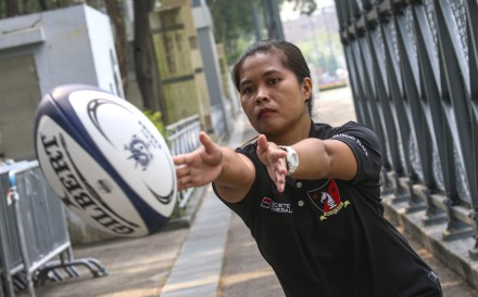 "Mary Flor ""Khaz"" Brizuela said rugby has helped her immensely when it comes to feeling accepted in Hong Kong. Photo: David Wong"