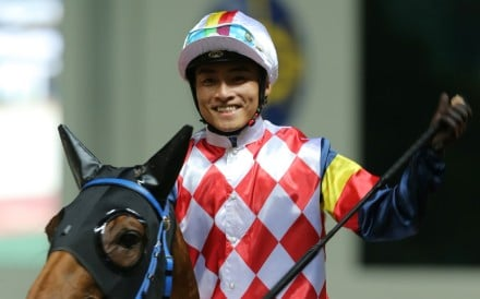 Jockey Keith Yeung is all smiles after recording his 250th Hong Kong winner. Photos: Kenneth Chan