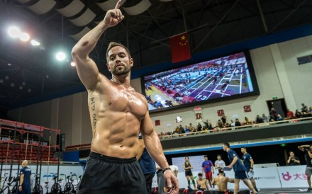 Rich Froning at the Asia CrossFit Championship. Can Scott Panchik beat him at the CrossFit Open 20.1 announcement? Photo: Shaun Cleary