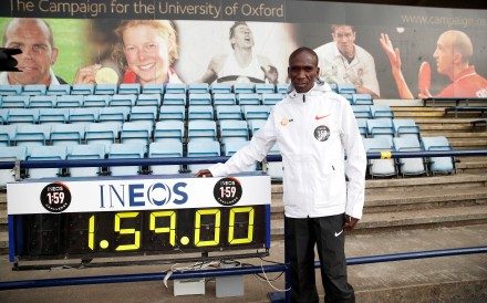 Eliud Kipchoge is set on showing 'no human is limited' as he tries to break the two-hour marathon barrier. Photo: Reuters