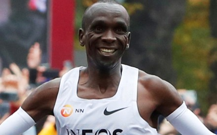 Eliud Kipchoge become the first person to run a marathon in under two hours. Photo: Reuters