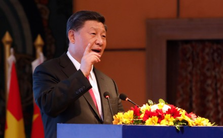 President Xi Jinping made the comments on his visit to Nepal. Photo: AFP/The Rising Nepal
