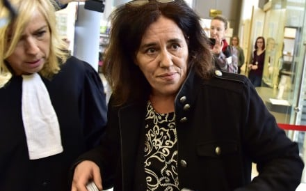 Rosa Maria Da Cruz (right) and her lawyer Chrystele Chassagne-Delpech arrive for the beginning of her trial in Tulle, France in November 2018. Photo: AFP