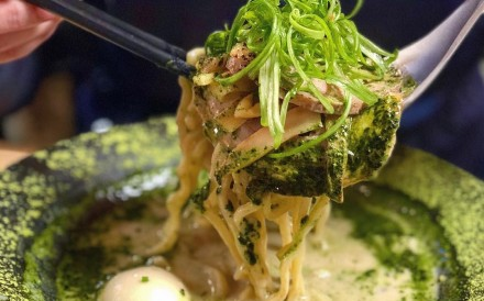 Matcha ramen is just one of the many recipes concocted to capitalise on the craze for Japanese green tea-flavoured foods. Photo: Instagam