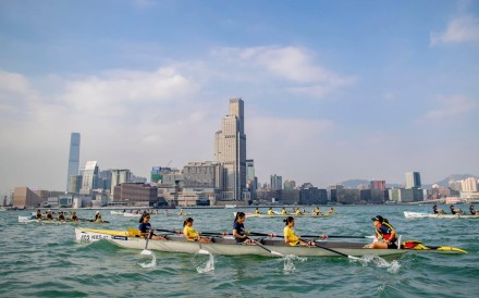 Action from the Asian Coastal Rowing Championship held in Hong Kong in 2018. Photo: Handout