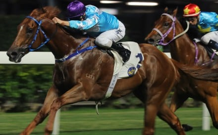 Yee Cheong Baby races away to win at Happy Valley last season. Photos: Kenneth Chan
