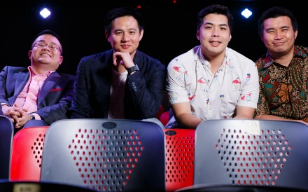 The Malaysian Association of Chinese Comedians (from left) Dr Jason Leong, Douglas Lim, Kuah Jenhan, and Phoon Chi Ho. The popular comedy troupe will be performing later this month at Sai Wan Ho Civic Centre, Hong Kong, on their farewell tour.