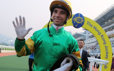 Joao Moreira celebrates a five-timer at Sha Tin earlier this season. Photos: Kenneth Chan