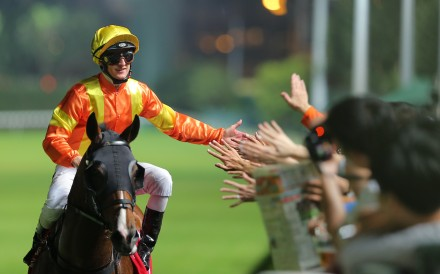 Zac Purton celebrates a winner with fans at Happy Valley earlier this month. Photos: Kenneth Chan