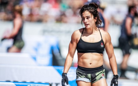 Lauren Fisher at the 2019 CrossFit Games. Photo: CrossFit