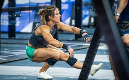 Jamie Greene performs single leg squats, known in the CrossFit community as pistol squats. Photos: CrossFit