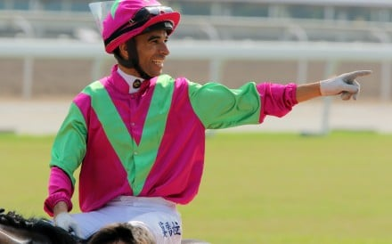 Joao Moreira celebrates a winner at Sha Tin. Photo: Kenneth Chan
