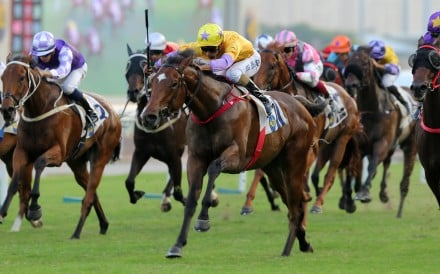 More Than This thunders home to win at Sha Tin on Sunday. Photos: Kenneth Chan