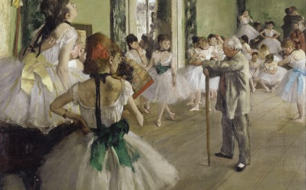 Renowned French artist Edgar Degas' 'The Ballet Class' from the 'Degas at the Opéra' exhibition, at the Musée d'Orsay in Paris, France. Photo: Alamy