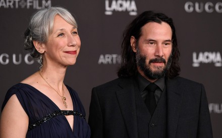 Hollywood superstar Keanu Reeves (right) is dating Alexandra Grant (left). Photo: AFP