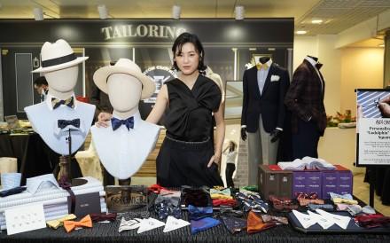 Panther Chan attends the Oriental Watch Sha Tin Trophy Gentlemen's Bow Tie Raceday.