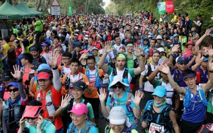 Competitors at the starting point of the 2018 Oxfam Trailwalker in Sai Kung. Photo: Dickson Lee