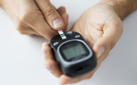 A man checks his blood sugar level using a glucometer. China has around 120 million diagnosed diabetes patients. Photo: Shutterstock