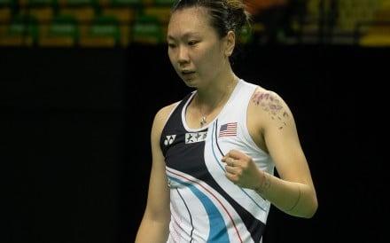 American Zhang Beiwen has reached the semi-finals of the Hong Kong Open. Photos: Chan Kin-wa
