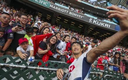 Salom Yiu Kam-shing of Hong Kong during the 2019 edition of the Hong Kong Sevens. Photo: Sam Tsang
