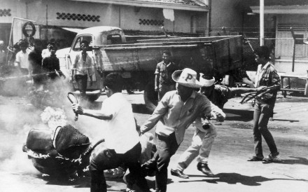 An anti-Chinese demonstration in Jakarta, 1967. Photo: AFP