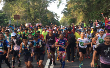 Hundreds of runners take on the Oxfam Trailwalker 2019, despite the event being cancelled owing to the ongoing protests. Photo: Mark Agnew