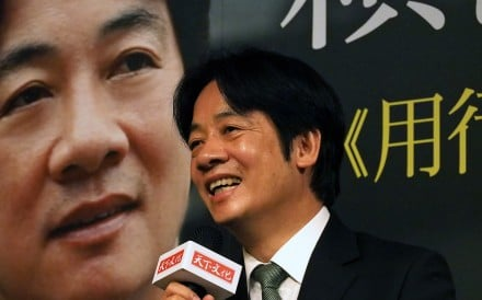 Former premier William Lai will run as Tsai Ing-wen's vice-president in Taiwan's upcoming election. Photo: EPA-EFE