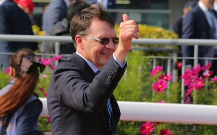 Star trainer Aidan O'Brien enjoys a win at Sha Tin. Photo: Kenneth Chan