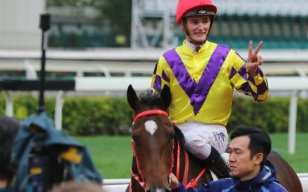 Regan Bayliss returns after winning on Champion's Way at Sha Tin. Photos: Kenneth Chan