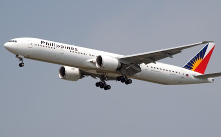 A Boeing 777 bound for Manila reported a problem with the right engine after take-off. Photo: Handout