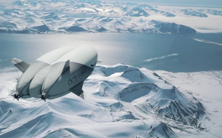 "Swedish company OceanSky Cruises is offering trips to the North Pole aboard the Airlander 10, aka ""The Flying Bum""."