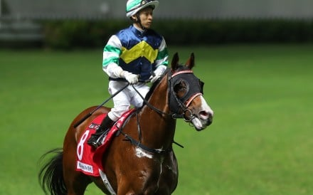 Matthew Chadwick returns on Gentle Breeze at Happy Valley after winning. Photos: Kenneth Chan