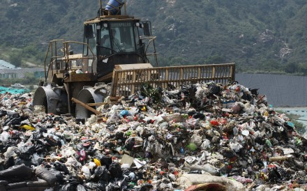 The West New Territories Landfill in Tuen Mun. Hongkongers sent an average of 1.53kg of municipal solid waste per day to landfills in 2018. Photo: Edward Wong