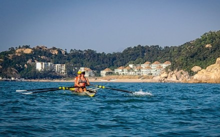 Rachel Humphreys, Tess Dolk, Andrea Tommasi and Ng Kong-wan row around Lantau. Photo: Handout