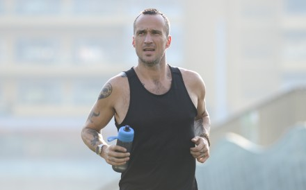 Patrick Blennerhassett quit drinking six months ago in a bid to hit a personal best at February's Hong Kong Marathon. The journey has become monumental. Photo: Antony Dickson