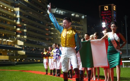 Frankie Dettori ahead of the IJC at Happy Valley on Wednesday night. Photo: HKJC