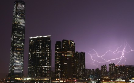 A record number of lightning strikes occurred on one day in April. Photo: K.Y. Cheng