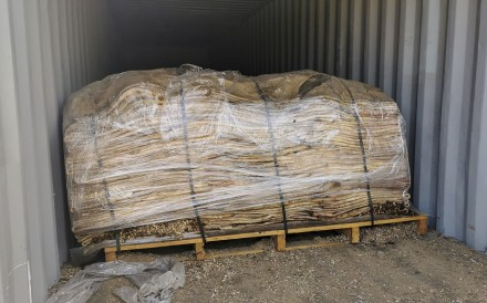 A subsequent investigation revealed that the shipment of cowhides had come from South America. Photo: Handout