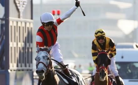 Win Bright wins the Hong Kong Cup at Sha Tin on Sunday. Photos: Kenneth Chan
