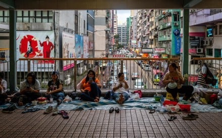 There are some 165,000 Indonesian domestic workers in Hong Kong. Photo: Bloomberg