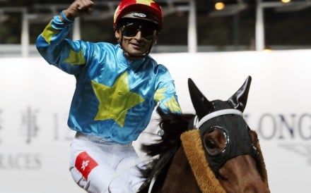 Karis Teetan returns after winning at Happy Valley during the International Jockeys' Championship. Photos: Kenneth Chan
