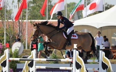 Raena Leung in action at the FEI Asian Championships in Pattaya, Thailand. Photo: HKJC