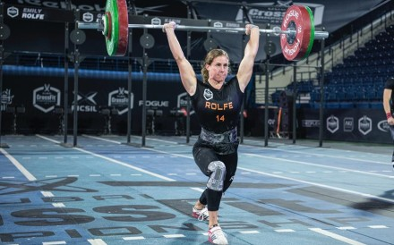 Emily Rolfe burst onto the scene earlier this year as she finished 18th at the CrossFit Games in her rookie appearance. Photo: Dubai CrossFit Championship