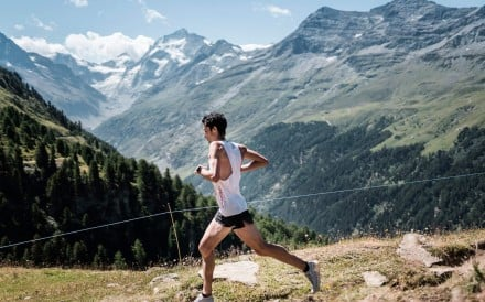 Kilian Jornet en route to his sixth Sierre Zinal victory of the decade, and his seventh overall. Where does he rank on the 2010 to 2020 list of greats? Photo: Golden Trail Series