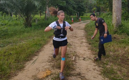 Verronika Vadovicova, winner of the Asia Trail Master 2019, on the 85km The North Face Malaysia Mountain Trail Festival in Taiping, Perak, Malaysia, the final race of the series. Photo: Handout