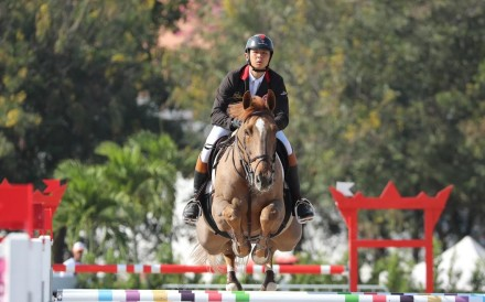 Hong Kong equestrian rider Kenneth Ho ended the season on track to qualify but was narrowly beaten by Sri Lankan Mathilda Karlsson. Photo: HKJC