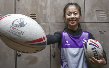 Hong Kong touch rugby player Rebecca Wong Chi-ling said the sport is for all women, regardless of their level of physical fitness. Photo: Jonathan Wong