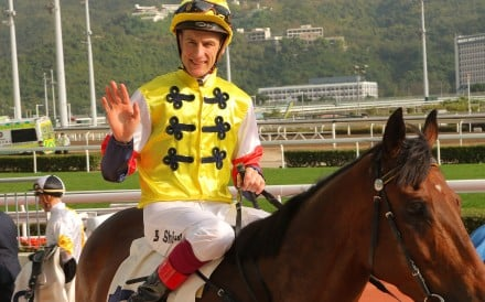 Blake Shinn celebrates his win aboard Golden Four at Sha Tin on Saturday. Photos: Kenneth Chan